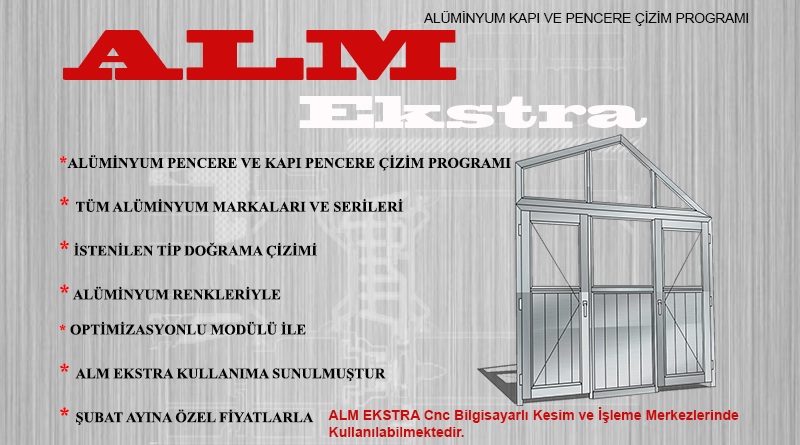 Aluminyum Kapı Pencere Çizim Programı